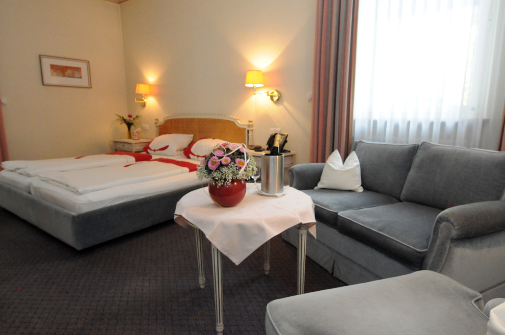 Very quiet double room with bathtub - Non smoking from (3 beds possible)